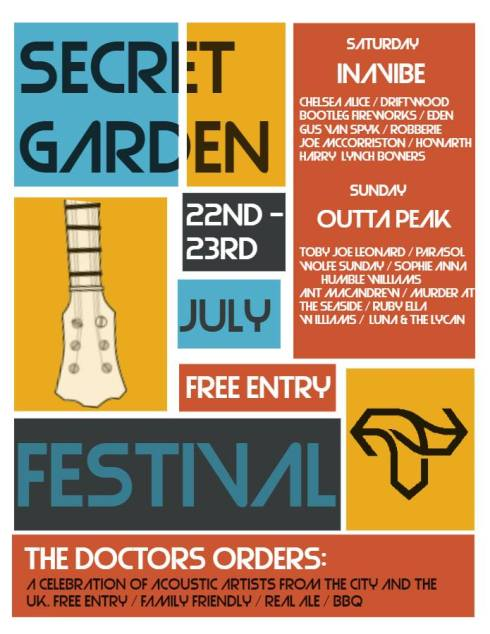 Secret Garden at The Doctor's Orders, Sheffield for Tramlines