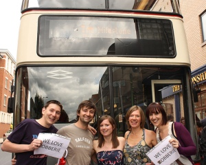 Us with the Tramlines busker bus