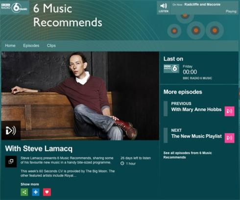 Steve Lamacq's 6 Music Recommends show