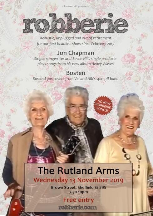 Robberie, Rutland Arms, November 2019